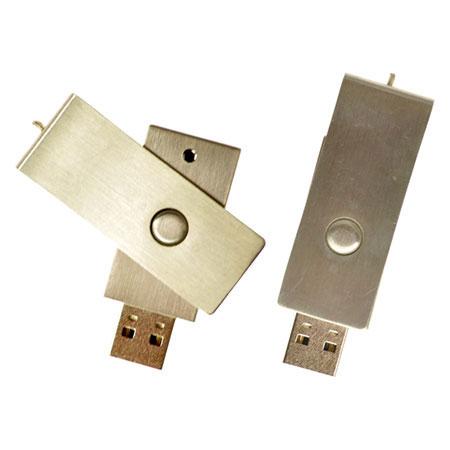 Clé USB pivotante inox