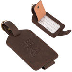 Luggage Tag in Bonded Leather