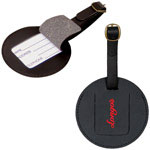 Leather Round Luggage Tag