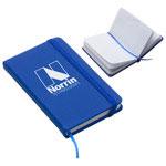 Journal de poche recyclé bleu
