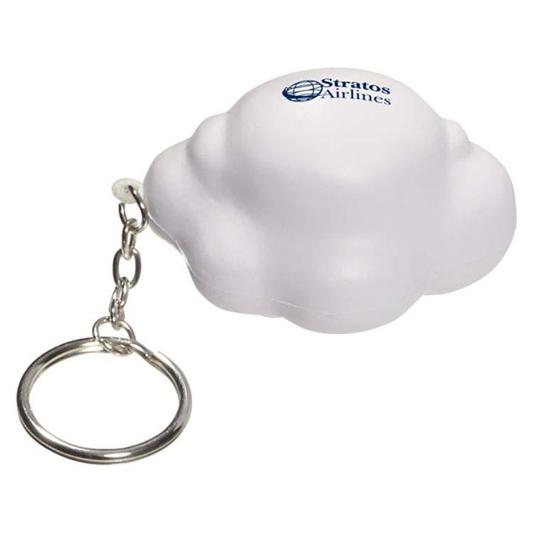 Nuage blanc anti-stress en porte-clés