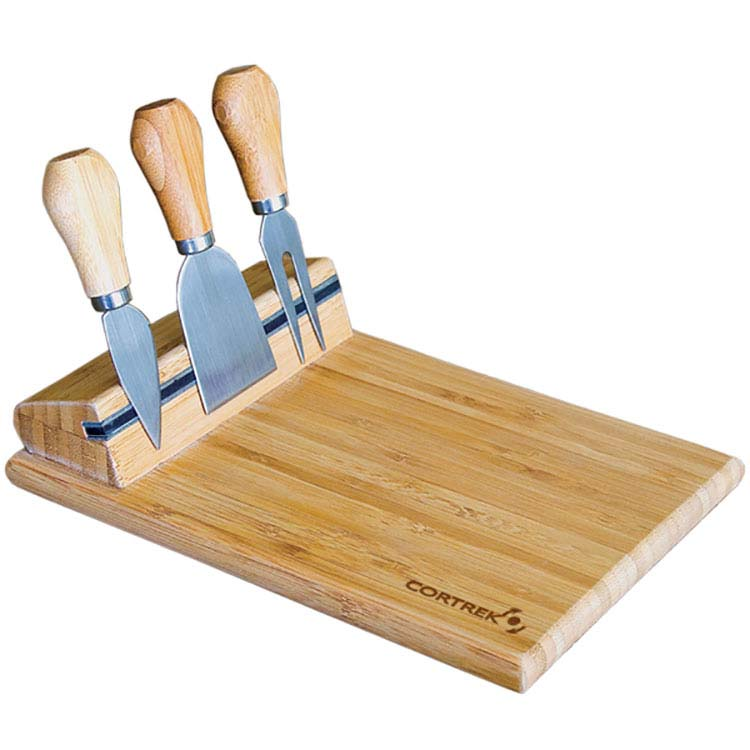 Planche à fromage en bambou avec ustensiles