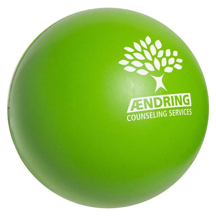 Balle anti-stress vert lime