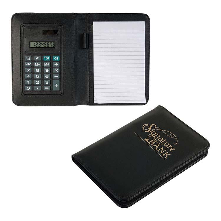 Bloc-notes avec calculatrice