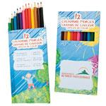 Boîte 12 crayons de couleur pré-taillés