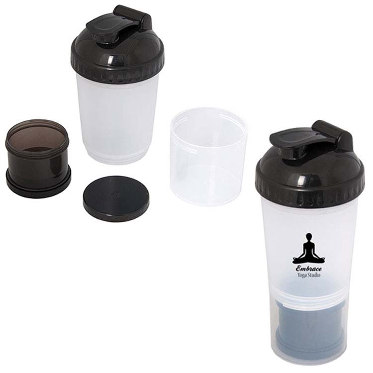 Bouteille à mélanger 600 ml (20 oz) Fitness Fanatic #3
