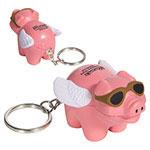Cochon volant porte-clés anti-stress