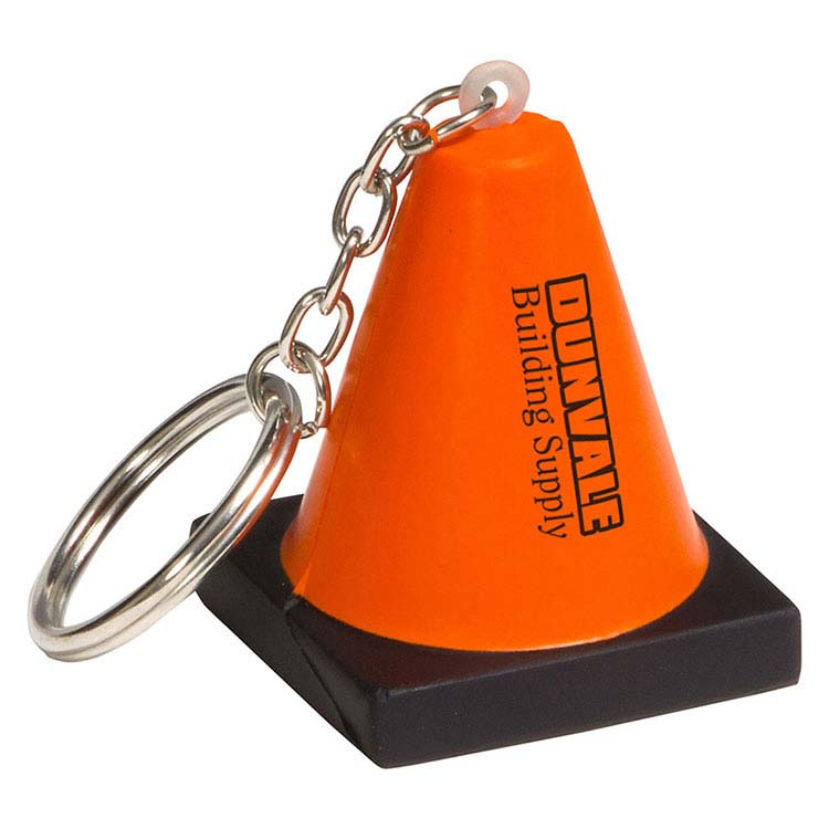Cône de construction porte-clés anti-stress
