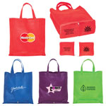 Non Woven Zippered Folding Tote