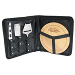 Plateau à fromages avec étui et 3 couteaux