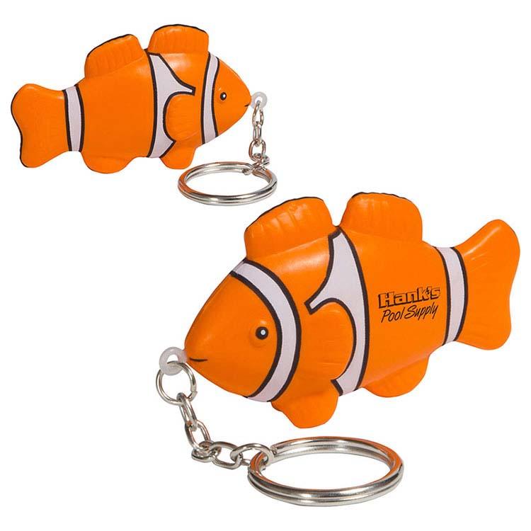 Clown Fish Key Chain Stress Reliever