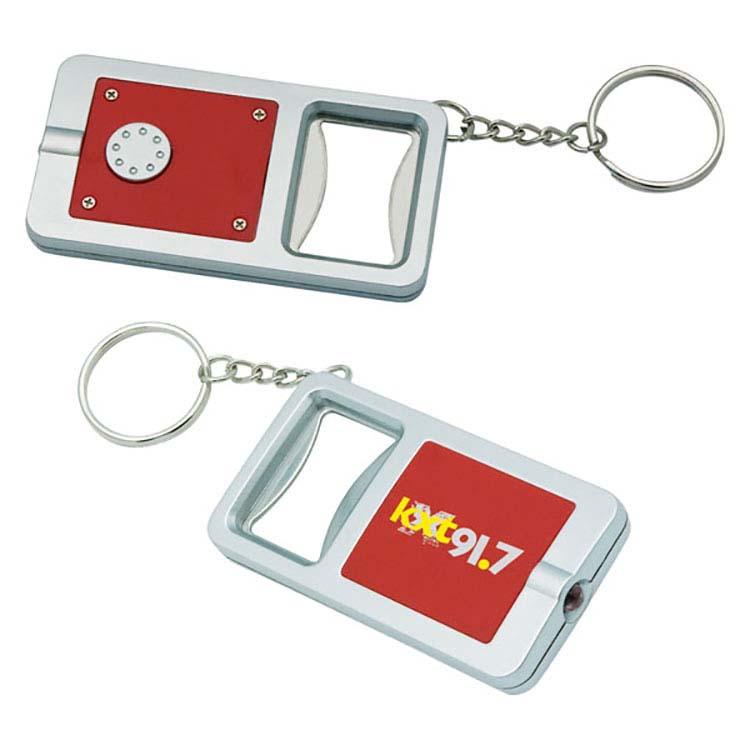 Porte-clés avec décapsuleur et lampe DEL blanche #2