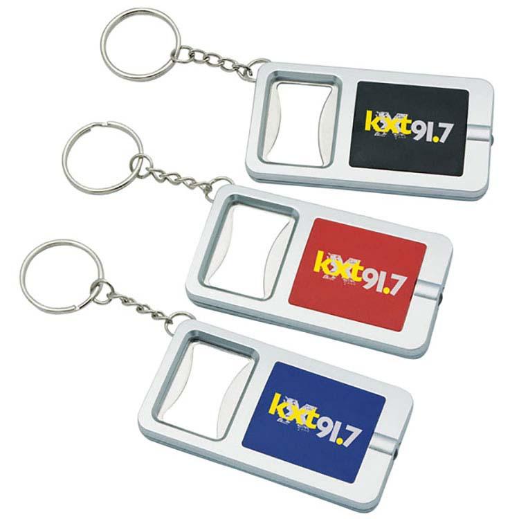 Porte-clés avec décapsuleur et lampe DEL blanche