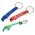 Aluminum Bottle and Can Opener with Key Ring