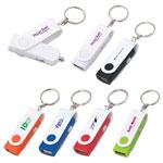Porte-clés pivotant avec chargeur USB pour l'auto