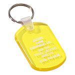 Porte-clés plastique translucide souple