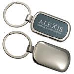 Porte-clés rectangulaire en métal deux tons
