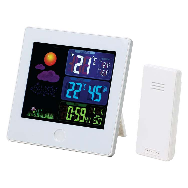 Station-météo Elements avec horloge