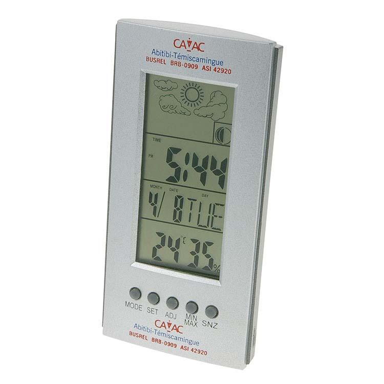 Station météo avec horloge et calendrier