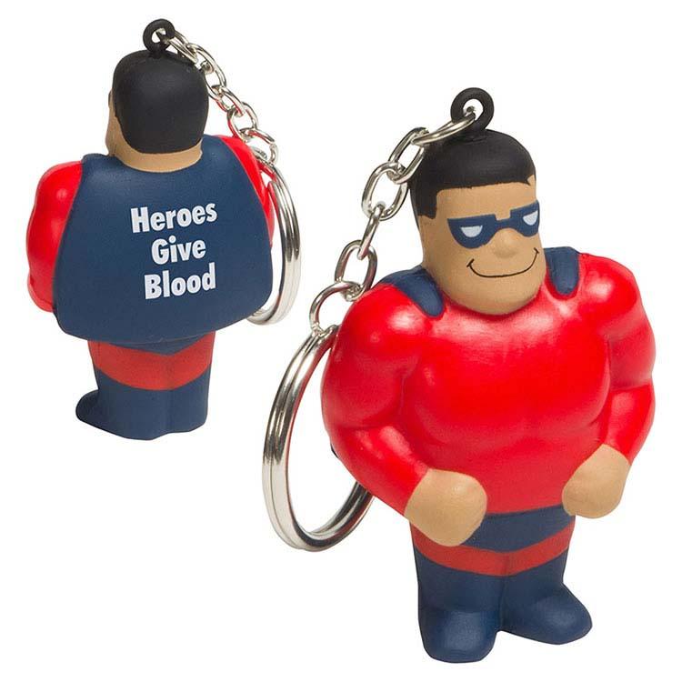 Super héro porte-clés anti-stress