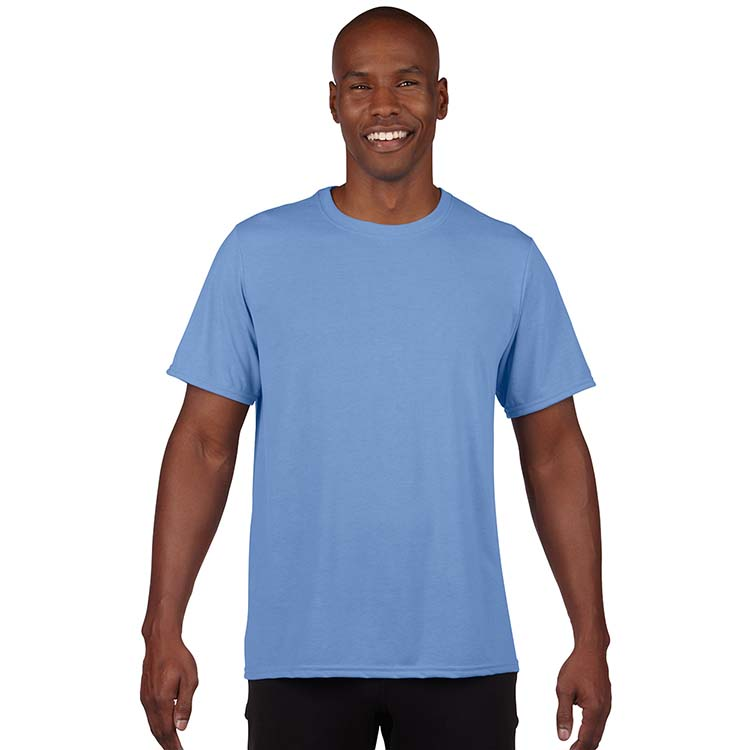 T-shirt Gildan Performance 42000 pour adulte - Bleu Caroline