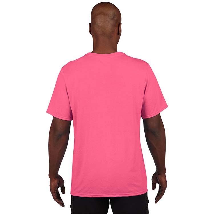 T-shirt Gildan Performance 42000 pour adulte - Rose de sécurité #2