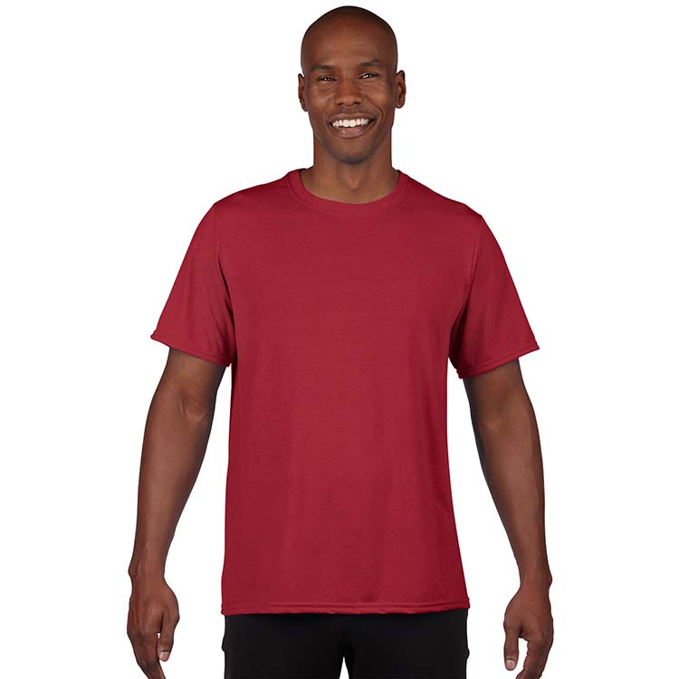 T-shirt Gildan Performance 42000 pour adulte - Rouge cardinal