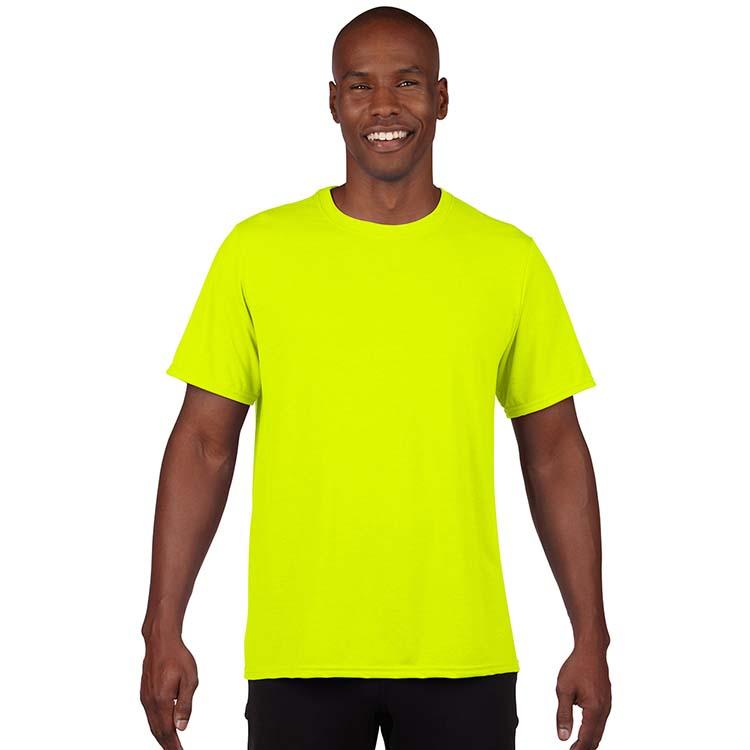 T-shirt Gildan Performance 42000 pour adulte - Vert sécurité