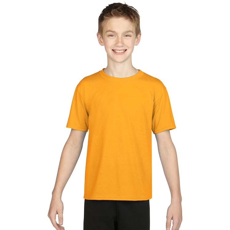 T-shirt Gildan Performance 42000B pour enfant - Or