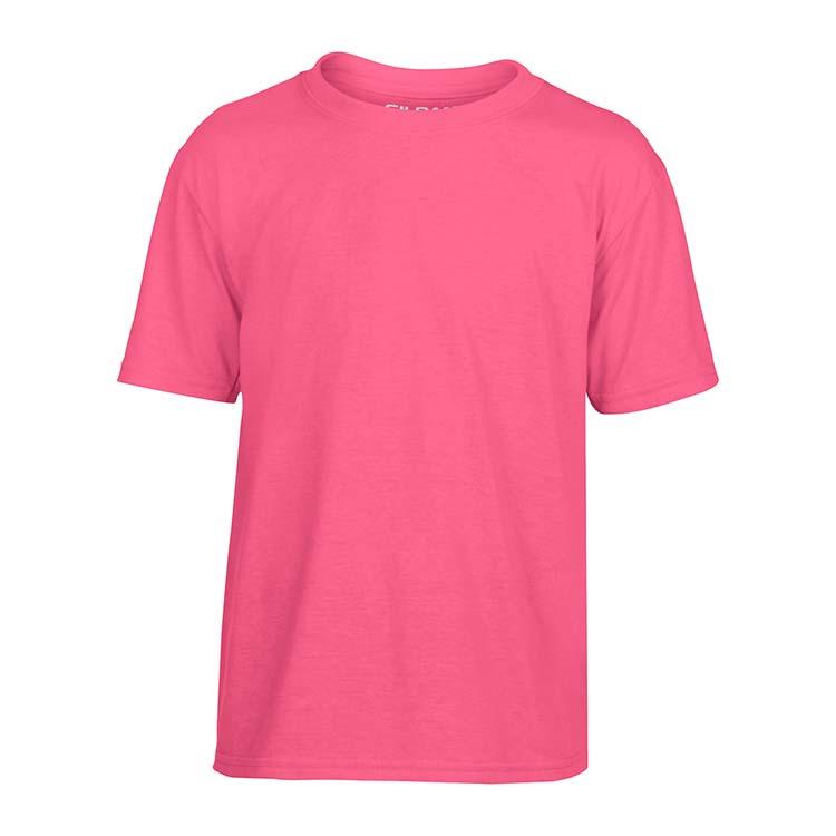 T-shirt Gildan Performance 42000B pour enfant - Rose de sécurité #3