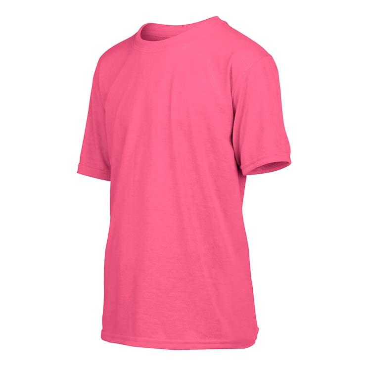 T-shirt Gildan Performance 42000B pour enfant - Rose de sécurité #4