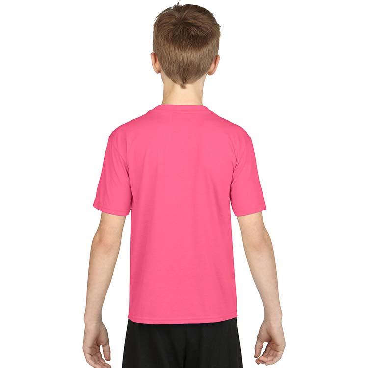 T-shirt Gildan Performance 42000B pour enfant - Rose de sécurité #2