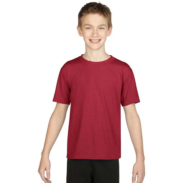 T-shirt Gildan Performance 42000B pour enfant - Rouge cardinal