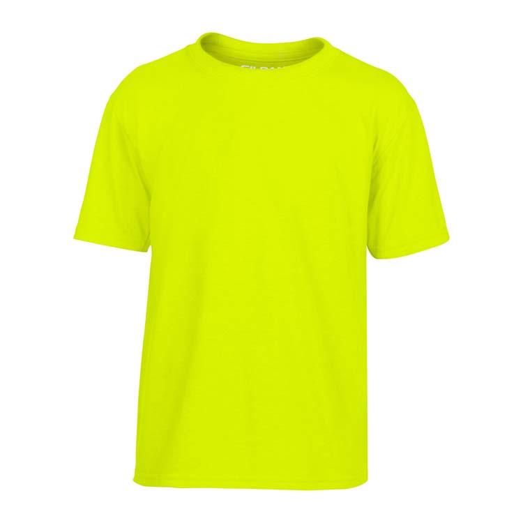 T-shirt Gildan Performance 42000B pour enfant - Vert sécurité #3