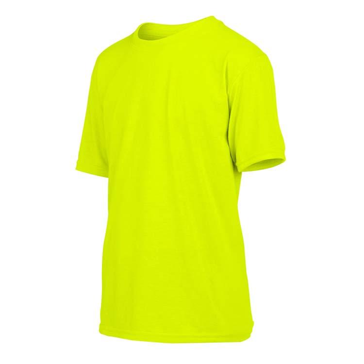 T-shirt Gildan Performance 42000B pour enfant - Vert sécurité #4