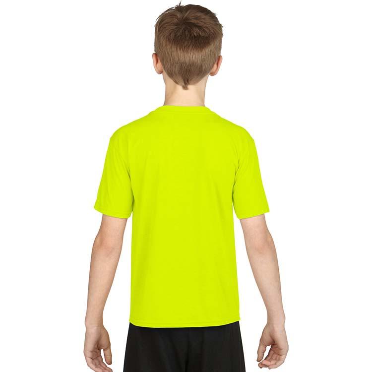 T-shirt Gildan Performance 42000B pour enfant - Vert sécurité #2