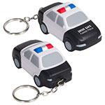 Voiture de police porte-clés anti-stress