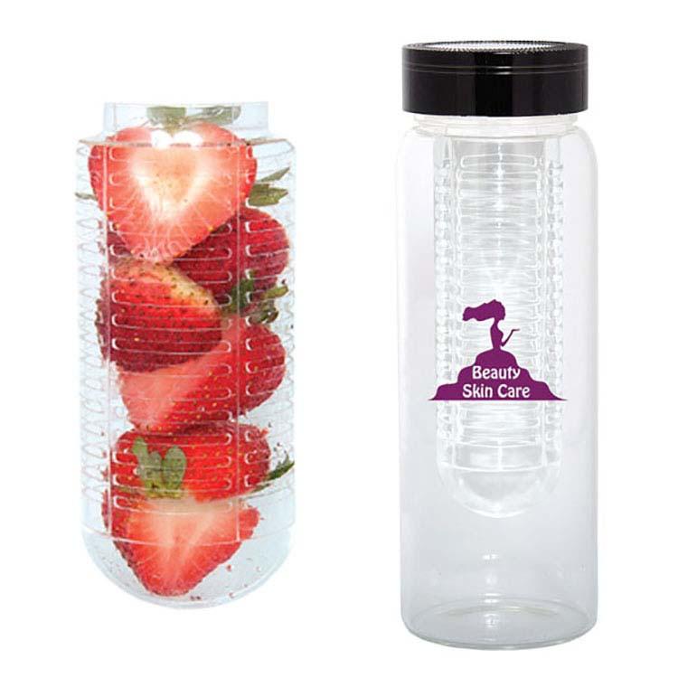 Bouteille d'eau 500 ml. (16 onces) avec infuseur à fruits