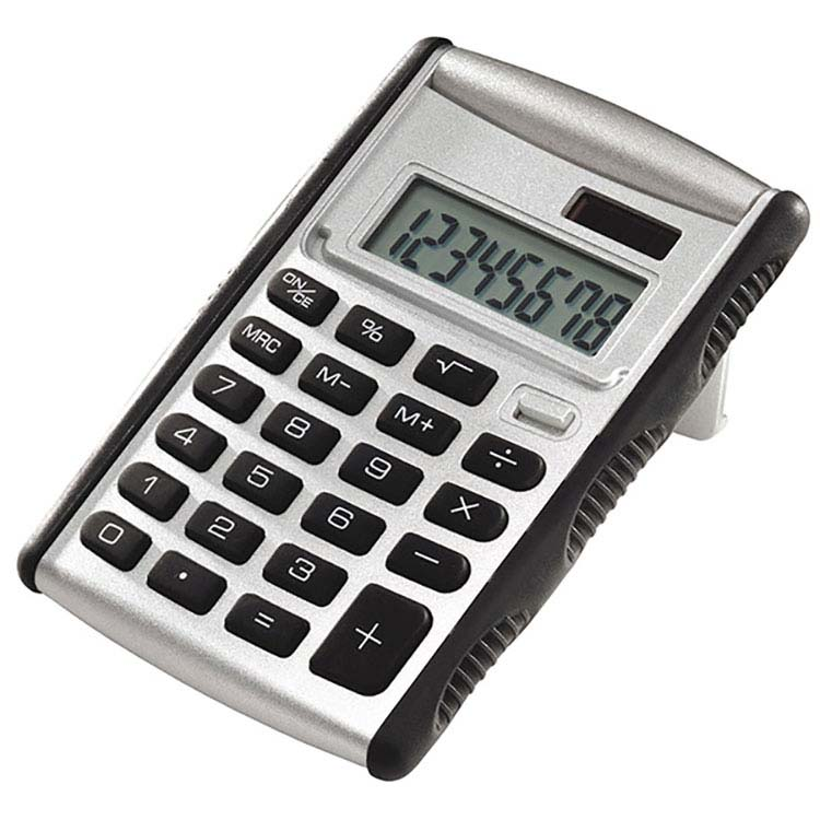 Black and Silver Pop-Up Solar Calculator #2