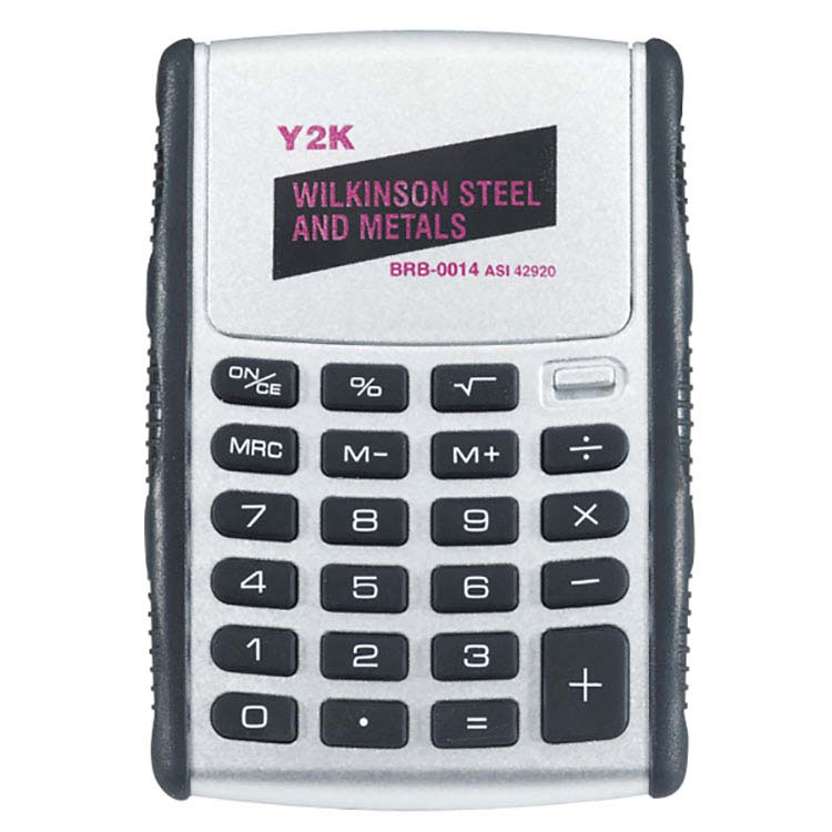 Black and Silver Pop-Up Solar Calculator