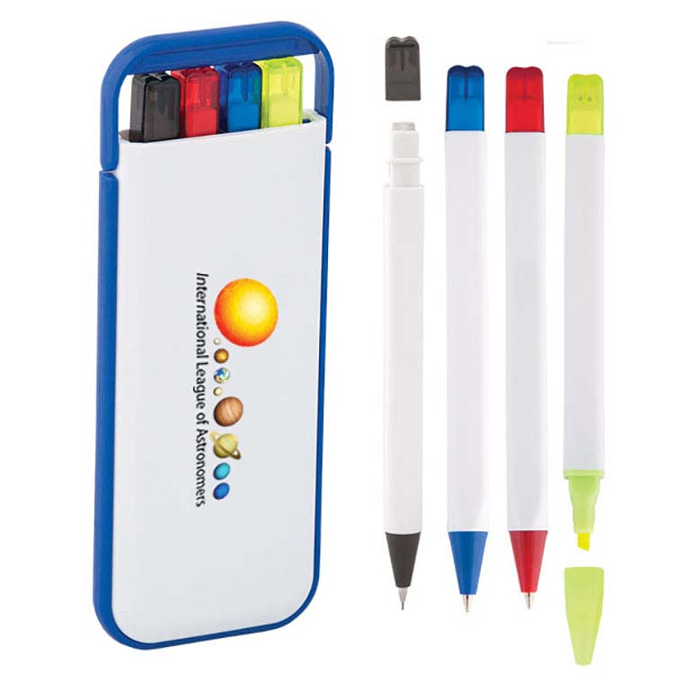 Ensemble de crayons 4-en-1 dans un étui rigide ABS #3