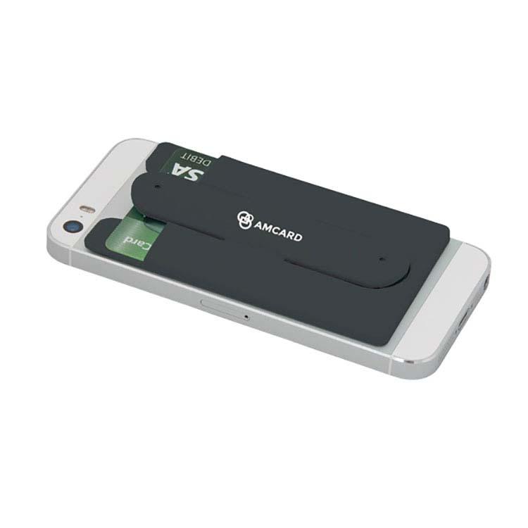 Porte cartes avec support pour cellulaire