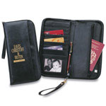 Simulated Leather Document Holder With Built-in change purse