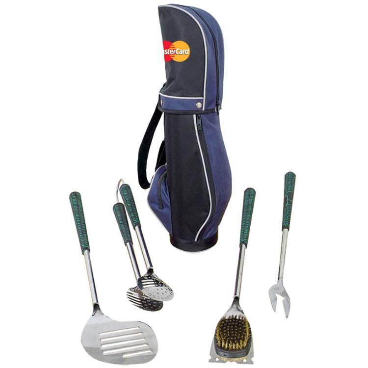 Trousse/sac de golf à 4 ustensiles à BBQ