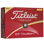 Balles de golf Titleist DT TruSoft Jaune Std Serv