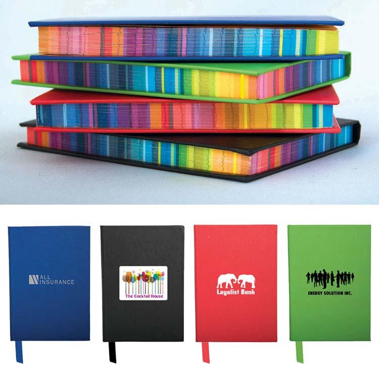 Cahier de notes avec bordure colorée