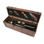 Treasure Chest Wine Bottle Case - 4 piece