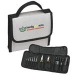 Ensemble d'outils dans un sac pliable