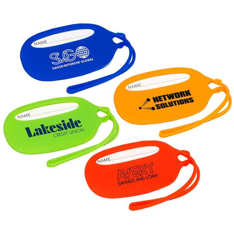 Étiquette de bagage en silicone durable