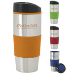 Color Grip Stainless Steel Tumbler 18 oz
